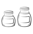 Glass Jars Black Pictograms vector image