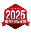 Happy New Year 2025 vector image vector image