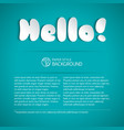 hello title composition vector image vector image