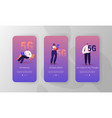high-speed 5g internet mobile app page onboard vector image vector image
