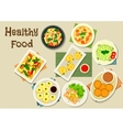Italian and chinese cuisine icon for food design vector image vector image