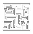 labyrinth maze conundrum black color path icon vector image