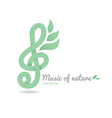 Logo music nature vector image vector image