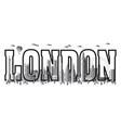 london city gradient 9 vector image vector image