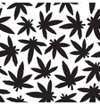 Marihuana ganja weed black and white seamless vector image vector image