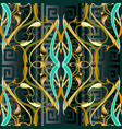 meander ornamental modern background vintage vector image vector image