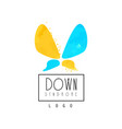 original logo with abstract butterfly vector image vector image
