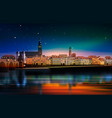 panoramic view of medieval town in germany vector image vector image