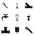 plumbing icon set vector image