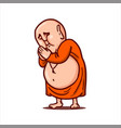 praying buddha folded hands and bows vector image