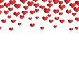 Red hearts isolated on white vector image vector image
