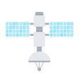 satellite flat icon transport and space vehicle vector image