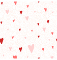 seamless pattern with hearts and swirls vector image vector image