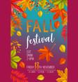 seasonal fall festival poster vector image vector image