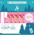 set of winter sale horizontal vector image