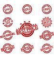 set rubber stamps sale vector image