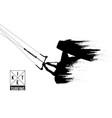silhouette kitesurfer kiteboarding kitesurfing vector image vector image