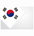 south korean flag design background vector image vector image