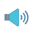 speaker sound on icon image vector image vector image