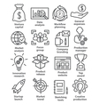 Startup business icons in line style vector image