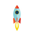 Starup Rocket with Fire Flat design vector image vector image