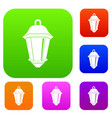 street light set color collection vector image vector image