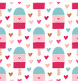 summer seamless pattern with ice creams bright vector image vector image