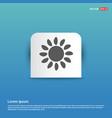 sunicon - blue sticker button vector image vector image