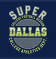 super college football vector image vector image