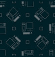 technology print seamless pattern with desktop pc vector image