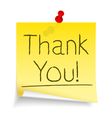 Thank You Sticky Note vector image vector image