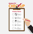 The concept of infographic for product quality on vector image vector image