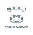 tourist backpack line icon linear concept vector image vector image