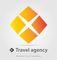 Travel agency business icon vector image vector image