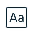 typography icon Rounded squares button vector image