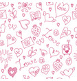 valentines day large icons set seamless pattern vector image vector image