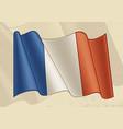 vintage flag france vector image