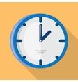 Wall Clock icon flat design vector image vector image