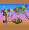 wine party concept - wine vector image vector image