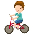 young boy riding a bicycle vector image