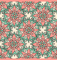 ethnic flowers seamless pattern can be used for vector image