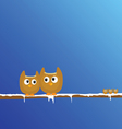 funny animal on the snow branch art vector image