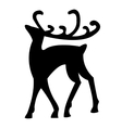 reindeer isolated on white vector image