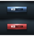 Set of two glossy buttons vector image