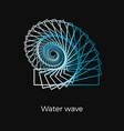 water wave logo vector image