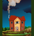 a mystery house in forest vector image vector image