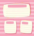 a pink blank note vector image vector image
