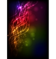 Abstract Neon Waves vector image vector image
