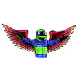 angel pilot man design draw vector image