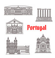 architecture portugal landmark buildings vector image vector image
